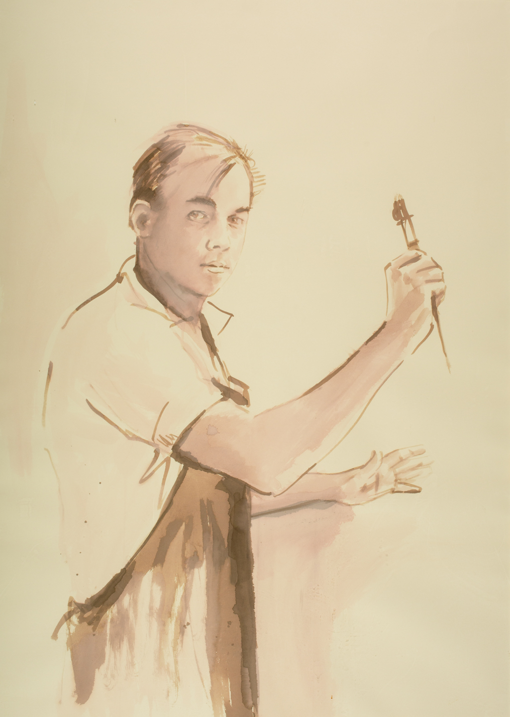 self-portrait, painting by Tim Trapolin
